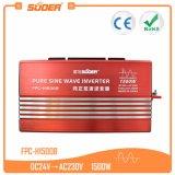 Inversor puro solar de la frecuencia de la onda de seno del sistema eléctrico 24V 220V 1500W de Suoer (FPC-H1500B)