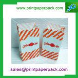 Couleurs imprimées Kraft sac de papier bloc plat bas parti déjeuner des sacs-cadeaux
