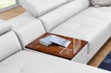 Sofà di cuoio d'angolo moderno con il sofà Desing/strato del salone di figura di U