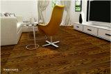 El parquet de madera de fresno marrón negro/suelo laminado