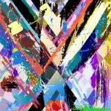 Cópia abstrata moderna colorida da lona do projeto 2017 novo