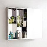 Gabinete de banheiro de design moderno Ss com espelho deslizante 7094