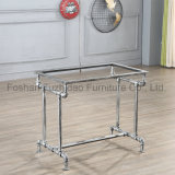 Hot Sale Wooden Dining Table with Removable Tabletop and Metal Table for Legs Restaurant
