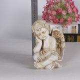عالة راتينج أثر قديم بيضاء ملاك تمثال لأنّ زخرفة بيتيّة