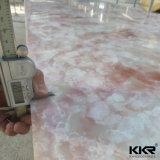 Feuille extérieure solide acrylique de marbre coréenne de Rose
