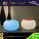 Farbe, die Plastik-Kaffeetisch der LED-Möbel-LED ändert