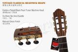Guitarra clásica superior sólida española de la vendimia hecha a mano