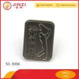 Jinzi personaliza a etiqueta de tipo do logotipo da bolsa do Tag do logotipo do metal