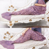 2016 Handmade 뜨개질을 한 인어 테일 담요 성인