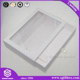 Gaveta de papelão de cor branca caixa de exibição de embalagem com puxador de Ouro