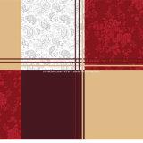 100%Polyester высекло ткань шотландки напечатанную Pigment&Disperse для комплекта постельных принадлежностей