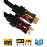 Кабель HDMI с золотым покрытием Нейлоновая оплетка 1,4 В