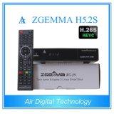 Nuevo mejor Hbbtv Combo Box Zgemma H5.2s doble núcleo Linux OS E2 DVB-S2 + S2 Twin Tuners con Hevc / H. 265