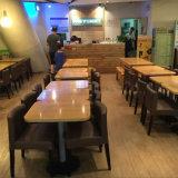 (SP-CS378) Jogo de madeira pequeno moderno comercial da tabela do restaurante do café de 2 Seater