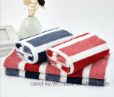 100% хлопок полосой пряжи домашний пляж полотенце