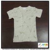 T-shirt de bébé de Gots d'usure de bébé de type de lacet