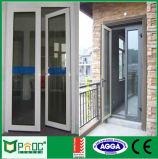 Porte à porte et porte battante en aluminium double vitrage Pnoccd0036