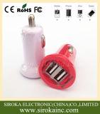 2 Handy-Batterie-Auto-Aufladeeinheits-Großverkauf-Universalität verdoppeln USB-5V 2.1A