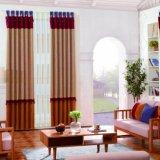 Cortinas de ventana baratas del damasco de la venta de la fábrica con el llano
