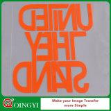 Qingyiの布のための明るい赤PUの熱伝達のビニール