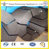 Cnm faible relaxation 12,7 mm à haute résistance du câble en béton précontraint