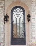 Portes d'entrée en cuivre ouvragées à main professionnelle Porte de sécurité en métal