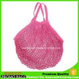 野菜およびフルーツのための長いハンドルの綿の網袋