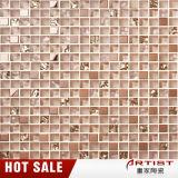 Qualitäts-neuestes Glaschina-Glasbadezimmer-Wand-Rosa-Farben-Mosaik