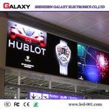 Pared video de interior a todo color fija de fundición a presión a troquel de la pantalla de visualización de LED para hacer publicidad, sistema de control, edificio comercial