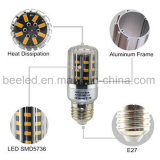 LEIDENE van het Lichaam van de LEIDENE Kleur van het Graan de Lichte E27 5W Warme Witte Zilveren Lamp van de Bol