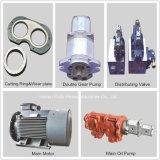 Pompe concrète de remorque diesel avec le mélangeur de tambour du circuit hydraulique (JBT40-D)