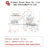 Het hydraulische Verdelen van de Steen Laserd/de machine van de Splitser voor de Steen van de Rand/van de Rand
