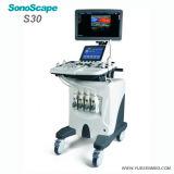 Krankenhaus medizinische Sosonoscape S30 3/4D Farben-Doppler-Laufkatze-mobile Ultraschall-Maschine