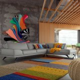 새로운 현대 거실 도착 L 모양 가죽 소파 (L629-13)