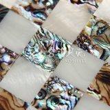 Azulejo de mosaico de agua dulce del cuadrado del shell y del shell del olmo