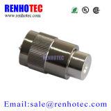 Connecteur en alliage de zinc de sertissage de câble coaxial de liaison de fréquence ultra-haute