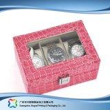 Caja de embalaje de madera/del papel de lujo de la visualización para el regalo de la joyería del reloj (xc-dB-013c)