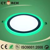 Ctorch ультра тонкое White+Green 6W+3W СИД включеный-выключеное Цвет-Изменяет свет панели