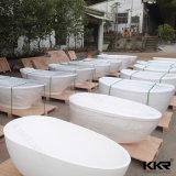 Vasca da bagno indipendente poco costosa di pietra di marmo artificiale bianca da vendere
