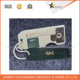 Бирка Hang печатание ярлыка белой одежды PVC бумаги картона изготовленный на заказ