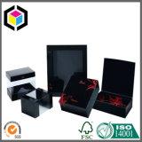 贅沢な正方形の黒いカラー蝋燭のペーパー包装のギフト用の箱