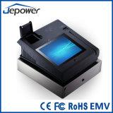 Máquina del cajero de la pantalla táctil con el programa de lectura y la impresora magnéticos de Bluetooth