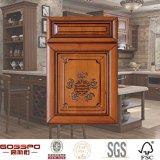 マホガニーの木の食器棚のドアの製造業者(GSP5-019)