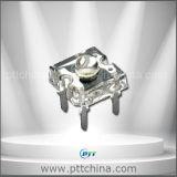 冷たい白3mmの極度の変化LEDの冷たいF3ピラニアLED、10000-40000k、6-8lm、90degree、120degree