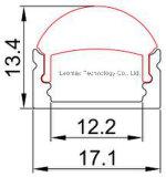 렌즈 PMMA 단백석 광택이 없는 유포자를 가진 알루미늄 LED 단면도