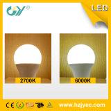 Luz de bulbo caliente de Saling 6400k E27 LED A60 LED