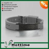 Wristband scalare di energia di personalità con il disegno dell'acciaio inossidabile della graffiatura (CP-JS-GM-001-5)