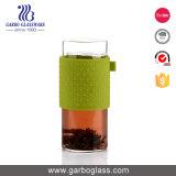 Tazza di caffè di vetro doppia di Pyrex 360ml con Infuser ed il silicone Sleevegb540100360