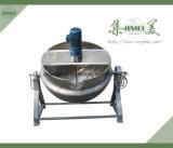 Mezclador de alimentos de calidad superior calentado/caldera vestida del vapor/crisoles de cocinar industriales con el mezclador