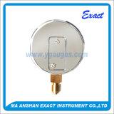 Manómetro da cápsula - Medidor de pressão seca - Medidor de conexão inferior